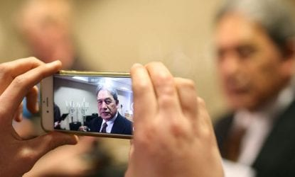 Winston Peters returns, with the blasts from the past