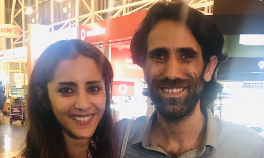 Golriz Ghahraman and Behrouz Boochani. Photo: supplied