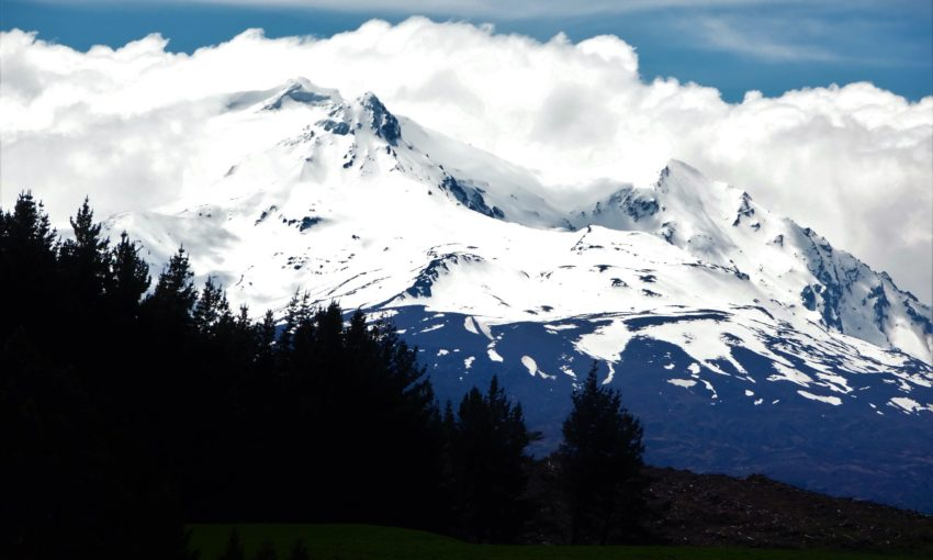 A view from the train of Ruapehu