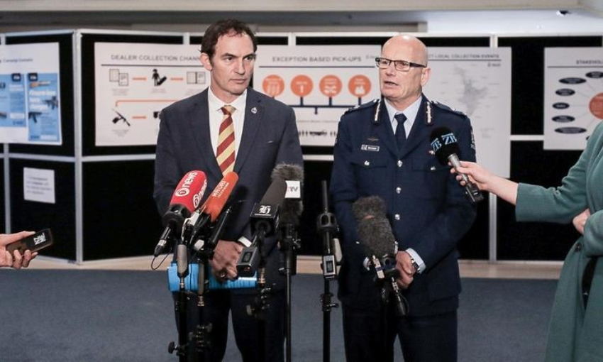 Police Minister Stuart Nash and Police Deputy Commissioner Mike Clement