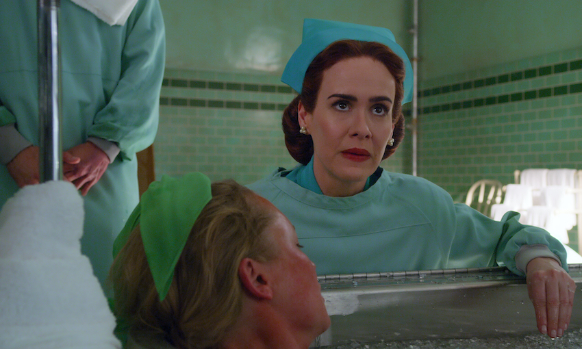 Sarah Paulson stars as Nurse Ratched in Ryan Murphy's bizarre prequel Netflix drama Ratched.