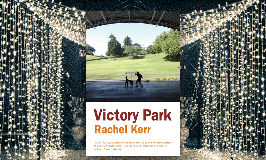 Cover of novel Victory Park with lights draped behind