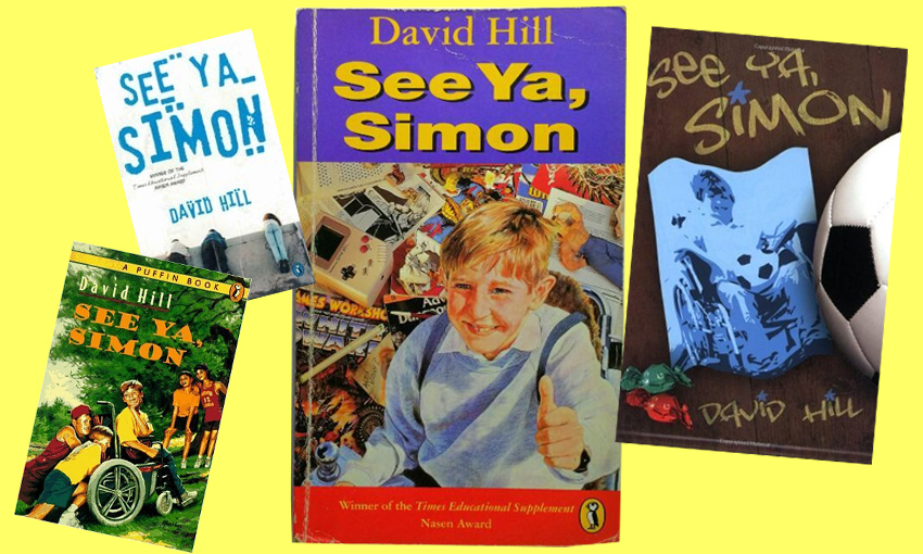 various covers of children's book See Ya, Simon, by David Hill