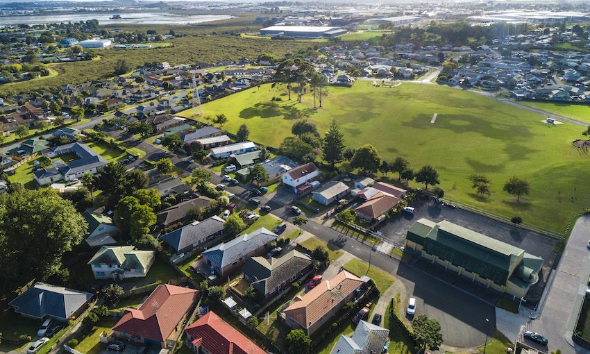 An aerial view of Māngere