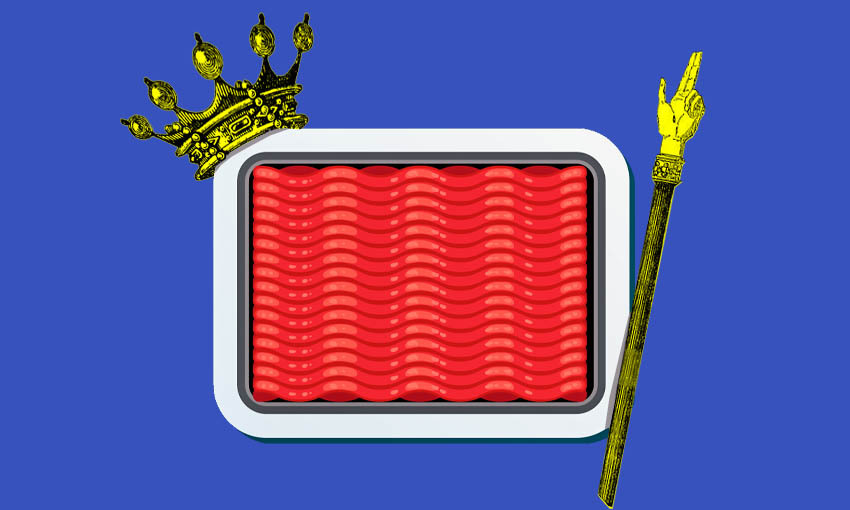 a packet of mince with a crown