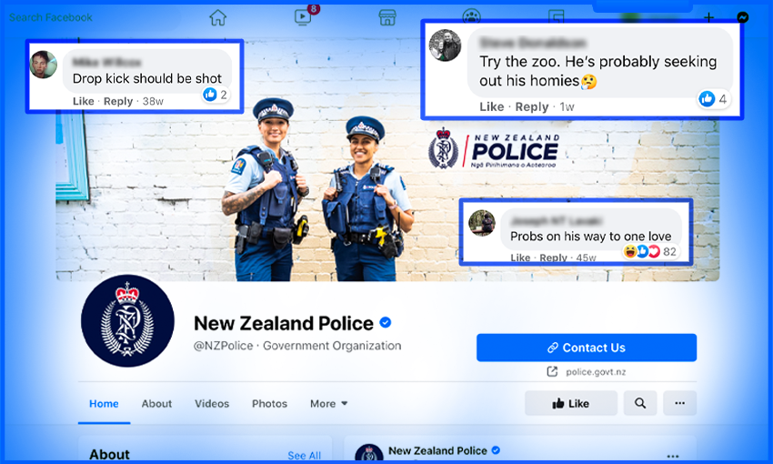 Who polices the police: Trash Facebook comments edition