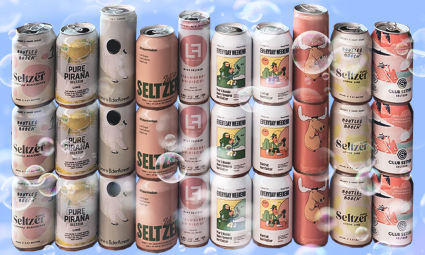 cans of hard seltzers
