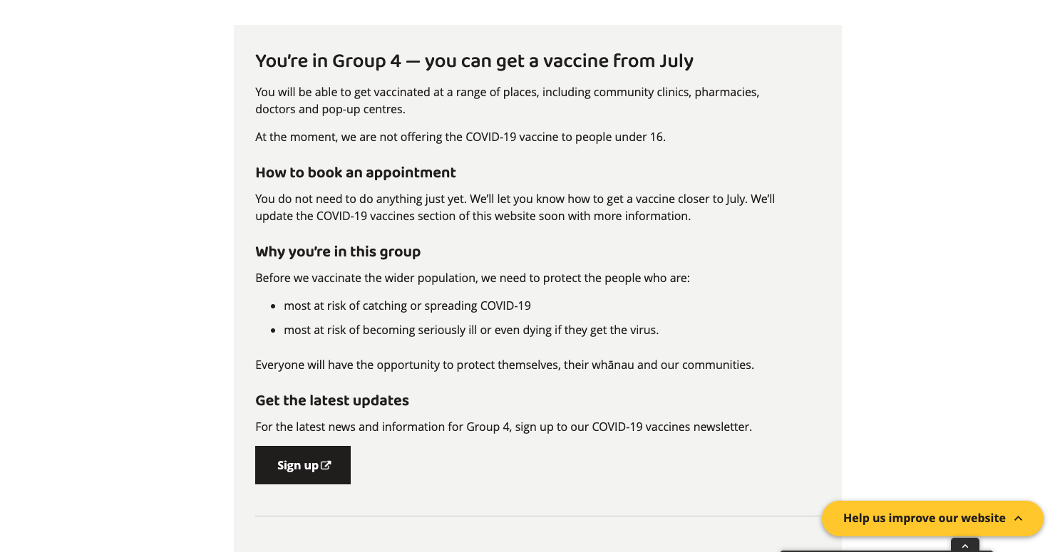 I won't be getting the vaccine until July