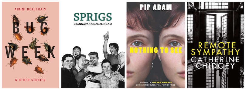 Book covers: Bug Week, Sprigs, Nothing to See and Remote Sympathy
