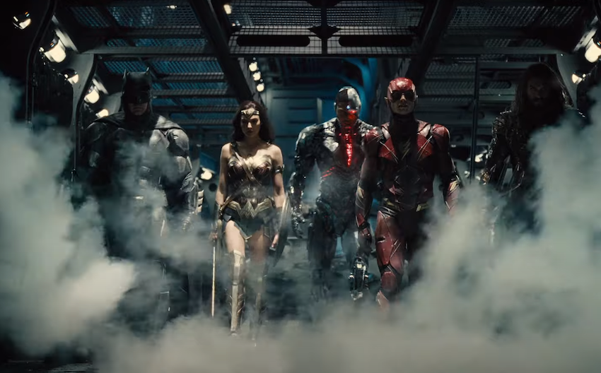 The cast of Justice League.