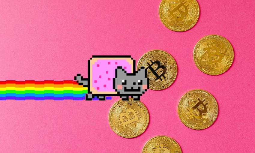 The future is here, and it's $450,000 gifs of Nyan Cat