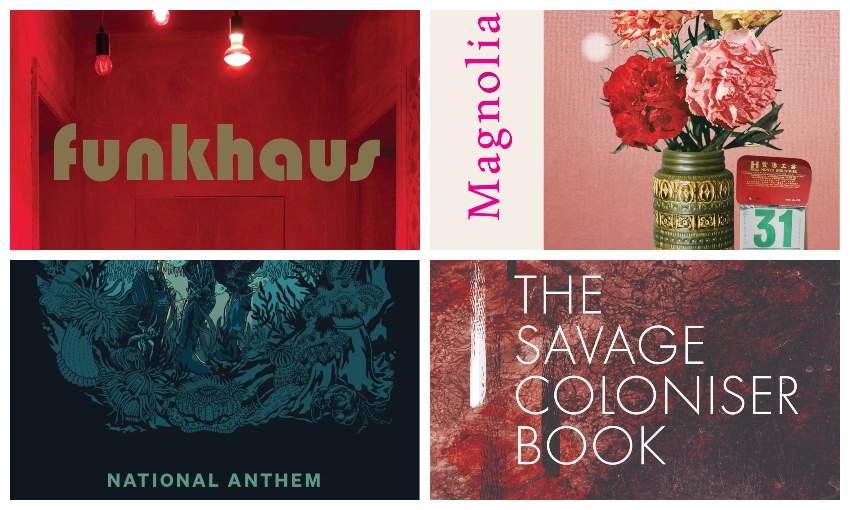 Sections of four poetry books: Funkhaus, Magnolia, The Savage Coloniser Book and National Anthem