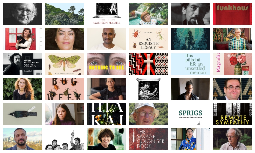 A collage of books and authors who made the shortlist of the 2021 Ockhams