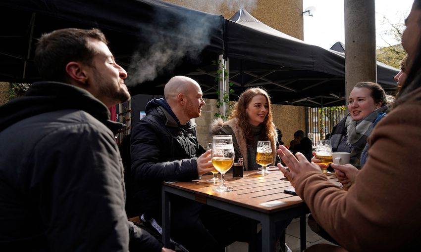 The first pint of freedom: London takes a step towards normality