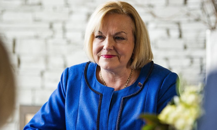 National Party leader Judith Collins during a meeting with Scott Morrison in Queenstown