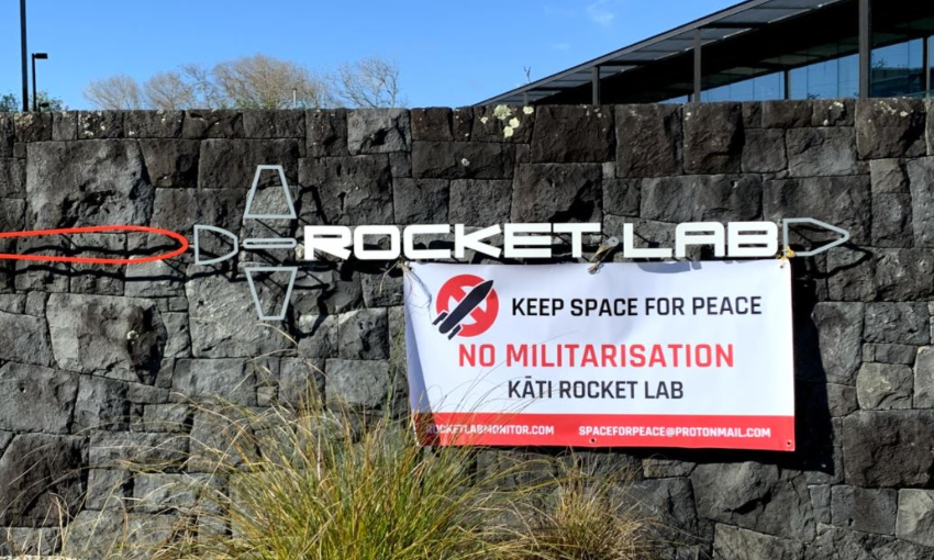 Mahia residents descend on Auckland to protest Rocket Lab links with US military