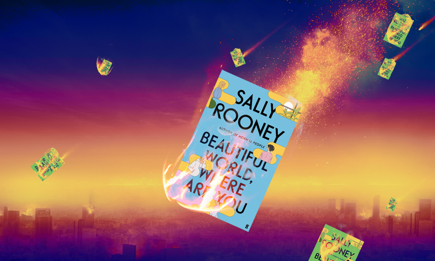 Flaming comets falling to Earth, except the comets are all Sally Rooney novels