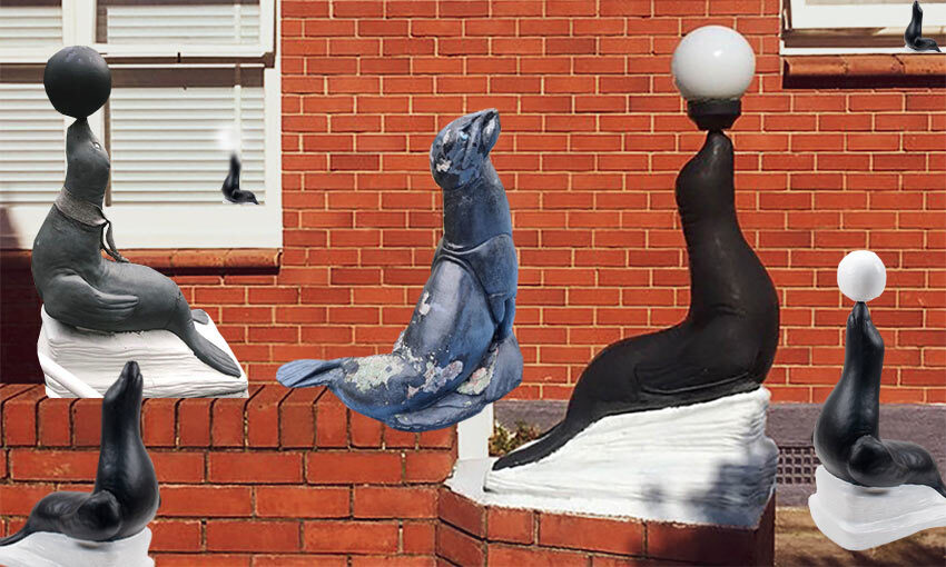 What's up with all those seal sculptures?