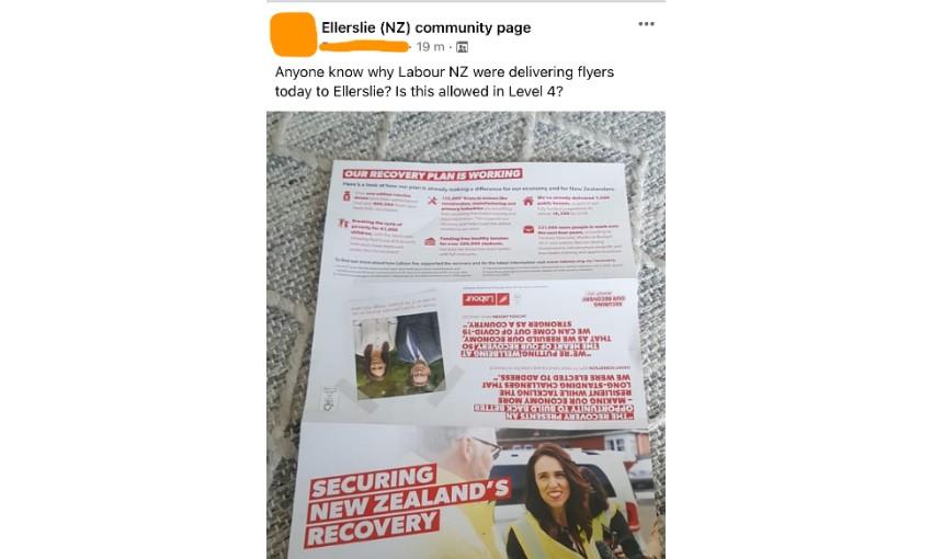 Labour leaflet delivered to Ellerslie
