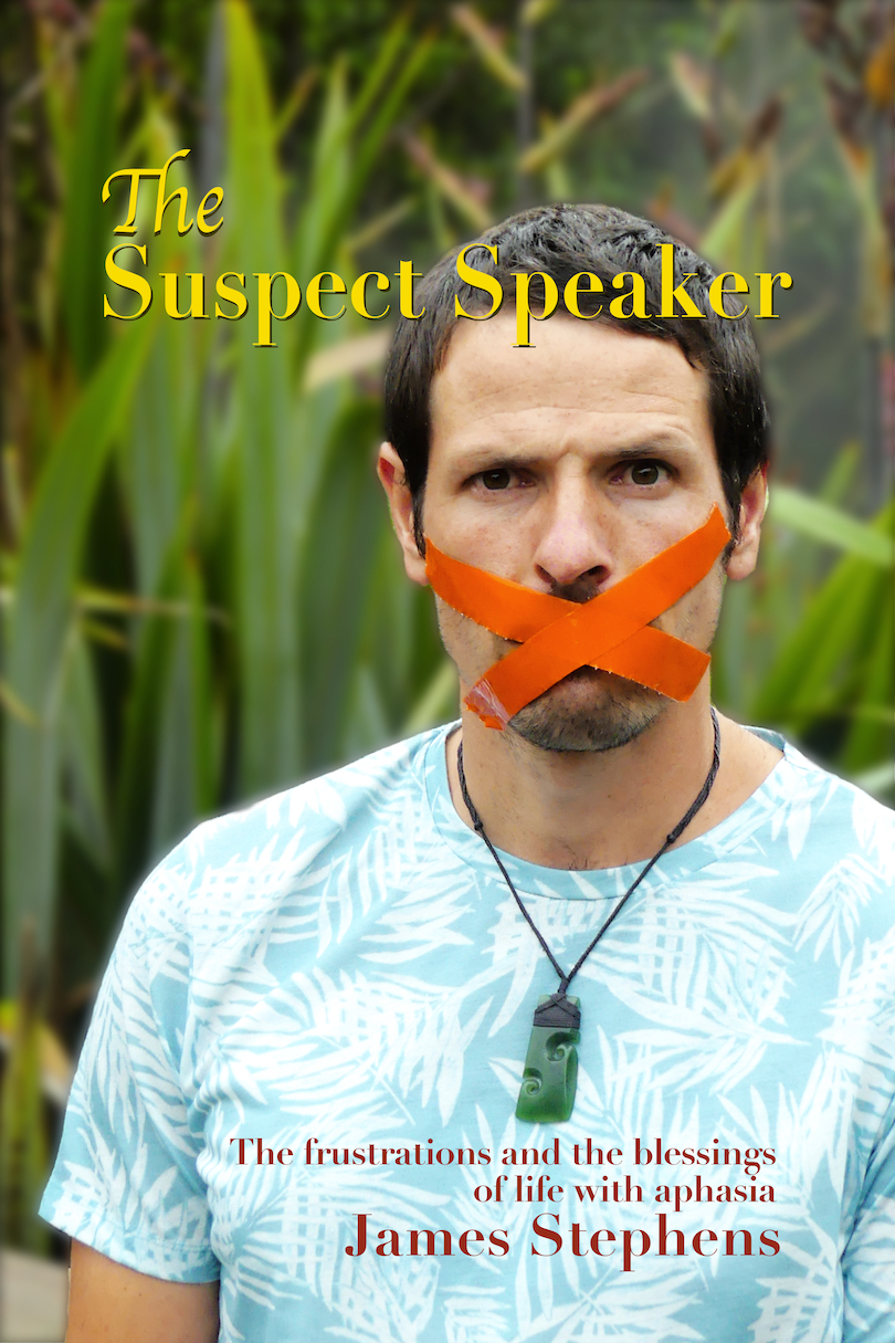 Cover of a book showing a photograph of a man with his mouth taped shut