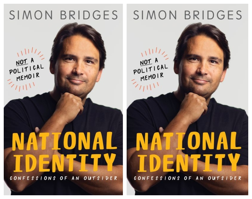 Book cover - photograph of a man in cheesy chin on fist pose, smiling benignly