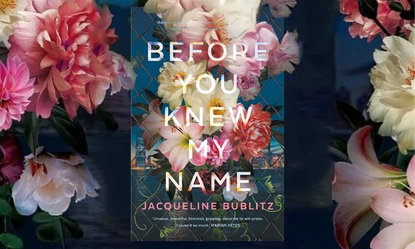 A book cover bursting with blowsy roses and peonies