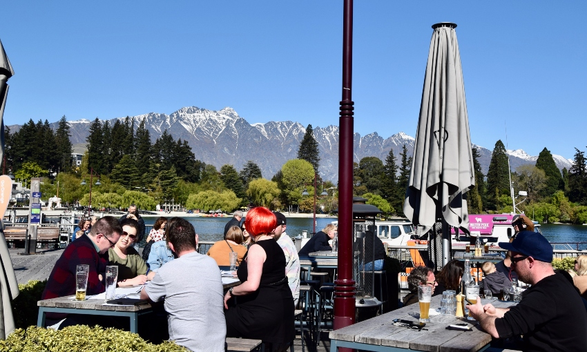 Yup, Queenstown is doing it tough. But this week I found it bubbling with life